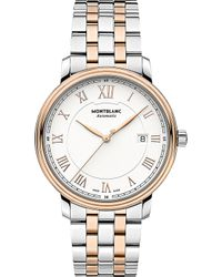 Montblanc - 114337 Tradition Stainless Steel And Red Gold-plated Watch - Lyst