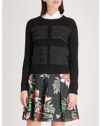 Claudie Pierlot | Tiered-trim Cotton Cardigan | Lyst