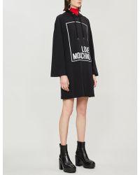 Love Moschino - Logo-print Cotton-jersey Hoody - Lyst