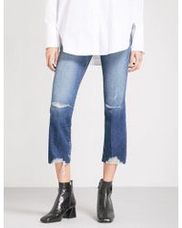J Brand - Selena Distressed Cropped Mid-rise Jeans - Lyst