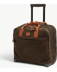 Bric's - Olive Green Pilot Two Wheel Cabin Trolley Suitcase - Lyst