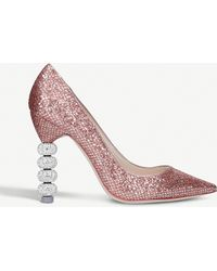 Sophia Webster   Coco Crystal Metallic Court Shoes   Lyst