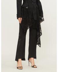Alexander McQueen - Kick-flare Wool-blend Tuxedo Trousers - Lyst