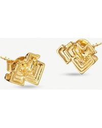 Missoma - Geo Bismuth Terra 18ct Gold-plated Earrings - Lyst