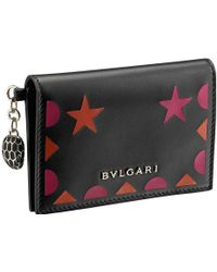 BVLGARI - Serpenti Forever Star Studs Leather Card Holder - Lyst