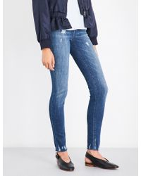 J Brand - Ladies Distressed Timeless Maria Skinny High-rise Jeans - Lyst
