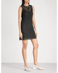 Sandro - Embroidered Lace Mini Dress - Lyst