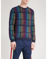 Gucci - Hollywood Knitted Wool Jumper - Lyst