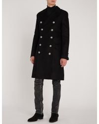 Balmain - Slim-fit Double-breasted Woven Coat - Lyst