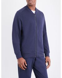 Hanro - Solid Cotton-jersey Jacket - Lyst