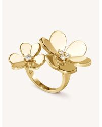 Van Cleef & Arpels - Frivole Yellow-gold And Diamond Between The Finger Ring - Lyst