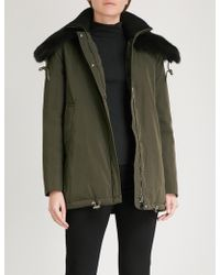 Moncler - Agapanthus Faux-fur Collar Woven Parka Jacket - Lyst