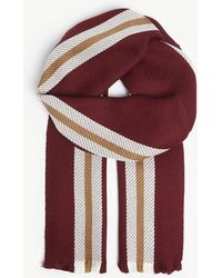 Johnstons - College Stripe Merino Wool Scarf - Lyst