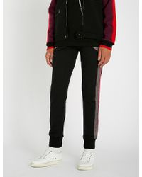 Lanvin - Side-stripe Shell-trimmed Cotton-jersey Jogging Bottoms - Lyst
