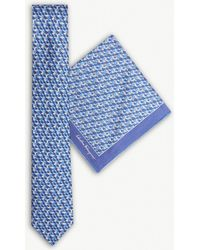 Ferragamo - Bunny Silk Tie And Pocket Square Set - Lyst