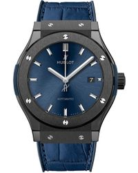 Hublot - 521.cm.7170.lr Classic Fusion Ceramic Blue Chronograph Watch - Lyst