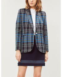 Claudie Pierlot - Saxo Fringed-trim Woven Mini Skirt - Lyst