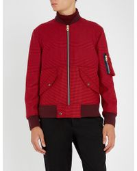 Paul Smith - Check-patterned Wool Bomber Jacket - Lyst