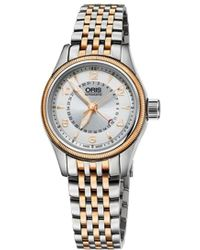 Oris - 59476804361mb Aviation Rose Gold-plated Stainless Steel Watch - Lyst