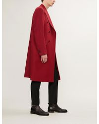 Paul Smith - Houndstooth Double-breasted Wool Coat - Lyst