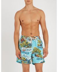 Polo Ralph Lauren - Landscape-print Relaxed-fit Swimming Trunks - Lyst