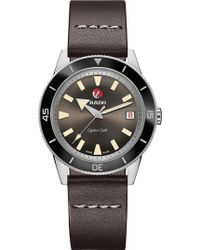 Rado - R32500153 Captain Cook Ceramic Stainless Steel And Leather Watch - Lyst