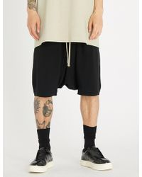 Rick Owens - Rick's Pod Relaxed-fit Dropped-crotch Shorts - Lyst