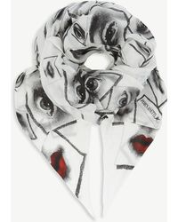 Fornasetti - Snake-print Modal And Cashmere Scarf - Lyst