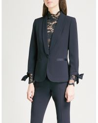 Claudie Pierlot - Single-breasted Crepe Tuxedo Jacket - Lyst