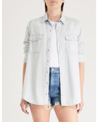 Free People - Bandana Bandit Denim Shirt - Lyst