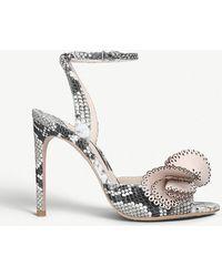 Sophia Webster - Soleil Snake-effect Leather Heeled Sandals - Lyst