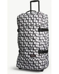 Eastpak - Black And White Floral Andy Warhol Tranverz Suitcase - Lyst