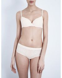 Silent Assembly - Smooth Stretch-lace Plunge Bra - Lyst