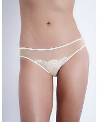 Silent Assembly - Vita Mesh And Lace Mini Briefs - Lyst