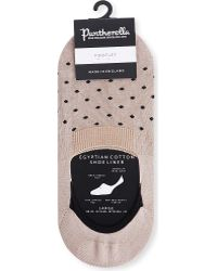 Pantherella - No Show Hidden Sock Egyptian Cotton Footlet - Lyst