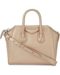 Givenchy - Antigona Mini Metallic Leather Shoulder Bag - Lyst