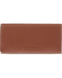 Longchamp - Le Foulonne Long Leather Continental Purse - Lyst