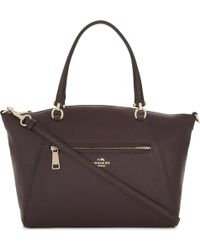 COACH - Praire Leather Cross-body Bag - Lyst