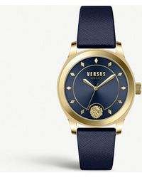 Versus - Vspbu0318 Durbanville Yellow-gold Plated Stainless Steel And Leather Watch - Lyst