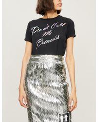 Fyodor Golan - Princess-print Cotton-jersey T-shirt - Lyst