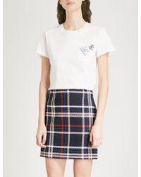 Claudie Pierlot - Embellished Cotton-jersey T-shirt - Lyst