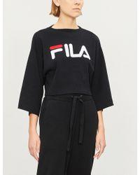Fila - Palmira Logo-print Stretch-cotton Jumper - Lyst