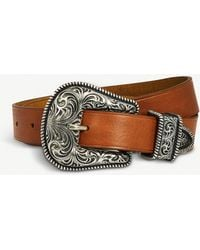 The Kooples - Western Metal And Leather Belt - Lyst