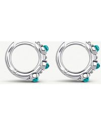 Thomas Sabo - Hinged Sterling Silver And Turquoise Hoop Earrings - Lyst