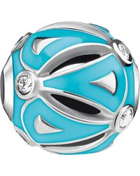 Thomas Sabo - Ethno Turquoise Sterling Silver Karma Bead - Lyst