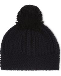 Sandro - Knitted Wool-blend Beanie - Lyst