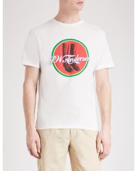 J.W.Anderson - Cola Boots Cotton-jersey T-shirt - Lyst