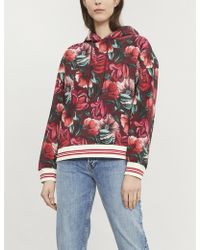 Sandro - Moise Floral-printed Jersey Hoody - Lyst