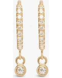 The Alkemistry - Zoë Chicco 14ct Yellow-gold And Diamond huggie Hoop Earrings - Lyst
