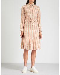 M.i.h Jeans - M.i.h Jeans X Bay Garnett Golborne Road Vintage Geometric-print Silk Dress - Lyst